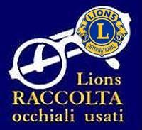 Lions raccolta occhiali usati