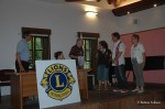 Il governatore Fabio Feudale porge i saluti al Lions Club Sezana