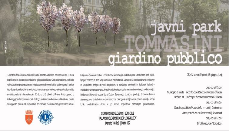 Comitato Italo Sloveno dei Lions - flyer