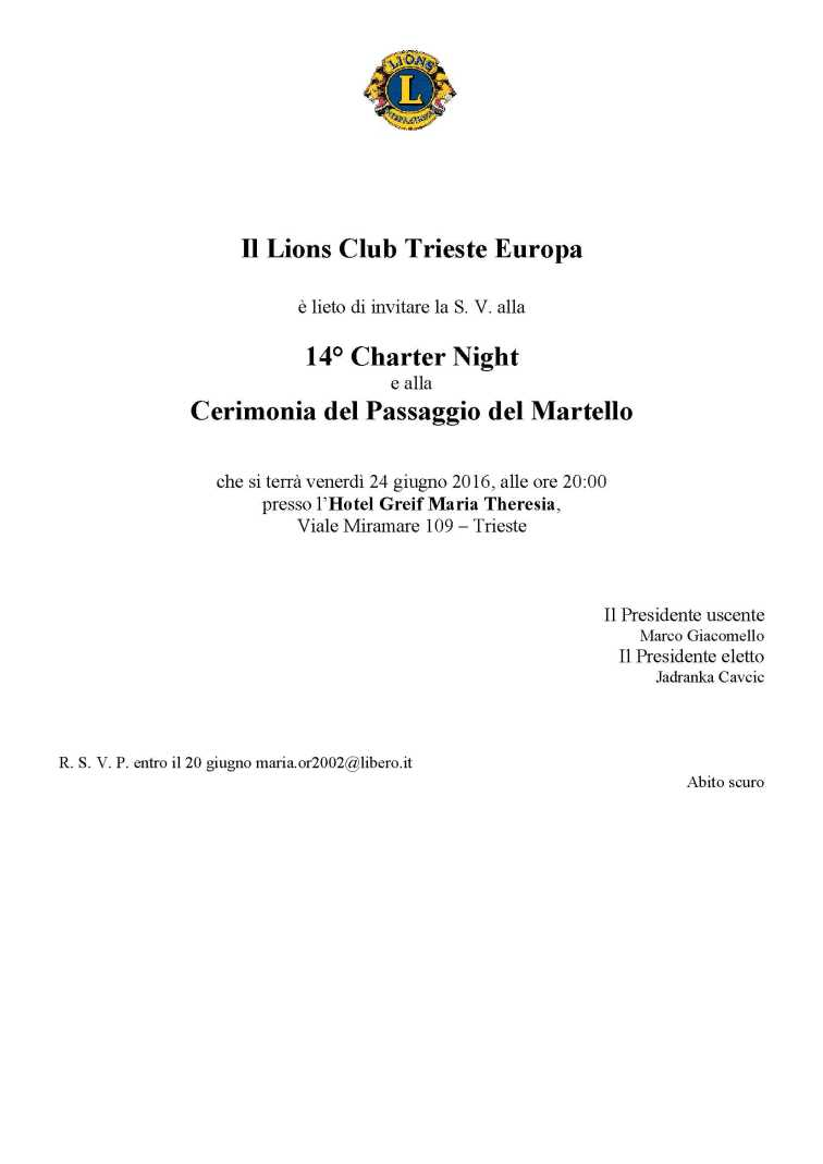 invito Charter 2016